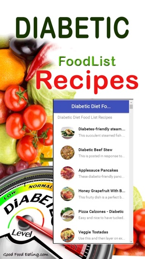 Diabetic Diet Food List Recipes On The App Store