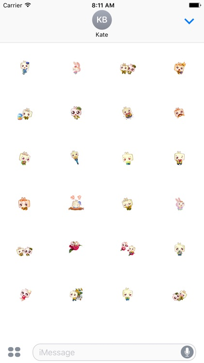 Square Bunny Stickers