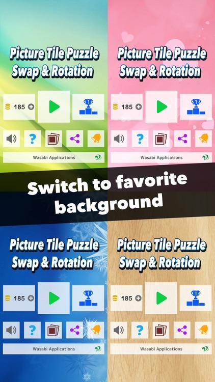 Picture Tile Puzzle! Swap & Rotation screenshot-4