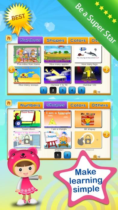 Baby ABC Numbers Math Nursery Rhymes Video Songs screenshot two