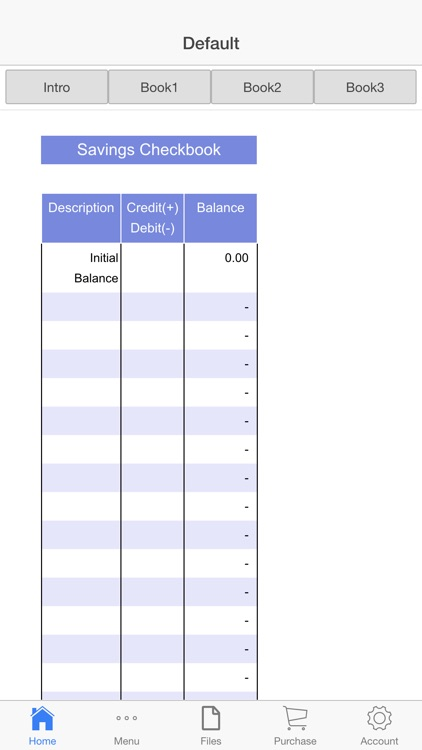 Savings Check Book