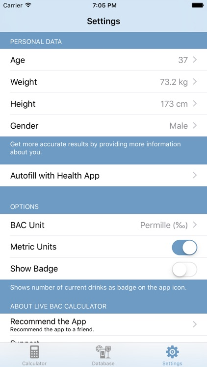 BAC Calc - Live Blood Alcohol Content Calculator screenshot-4