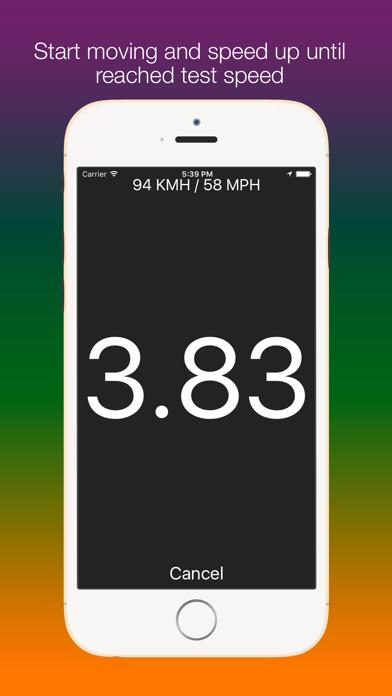 Screenshot #2 pour SpeedUp - Acceleration test 0-100 kmh 0-60 mph
