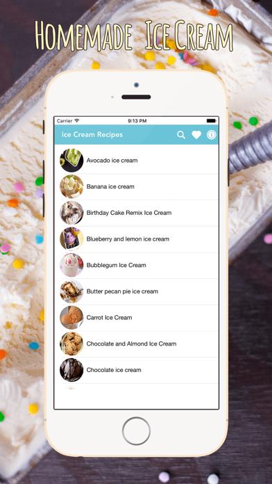 Homemade Ice Cream Recipes screenshot one