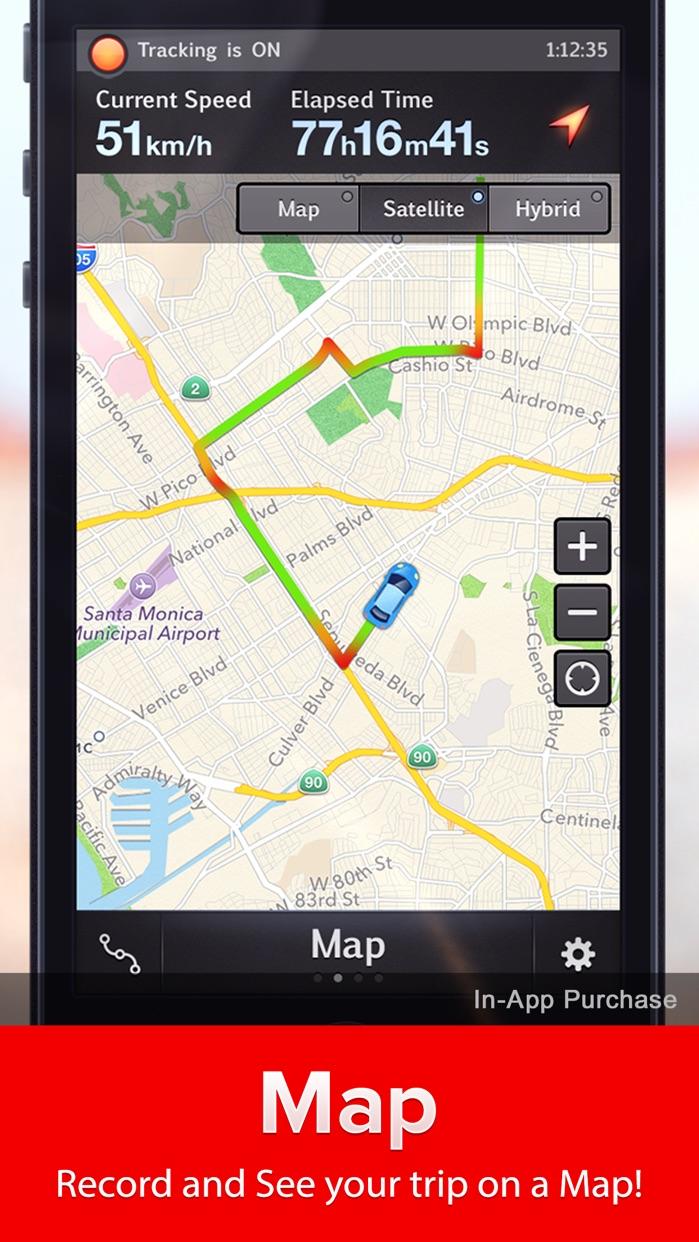 Speed Tracker. Free GPS Speedometer trip computer Screenshot