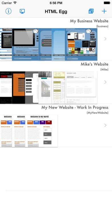 Screenshot #1 pour HTML Egg - Web Page Creator