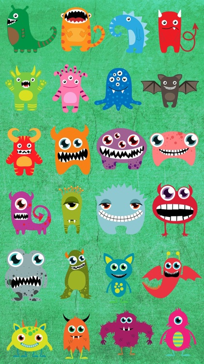 Monster Color Stickers