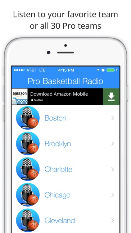 GameDay Pro Basketball Radio - Live Games, Scores, Highlights, News, Stats, and Schedules screenshot-0