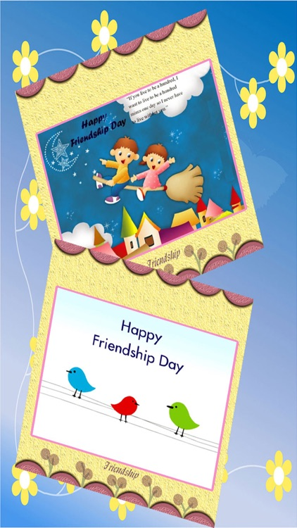 Friendship Day Card Wishes - Photo Frame editor