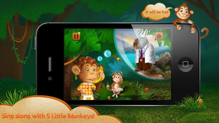 Kids Academy ∙ 5 little monkeys jumping on the bed. Interactive Nursery Rhyme.