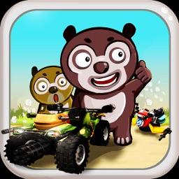 大熊二熊爱飙车 - 熊熊出动来赛车