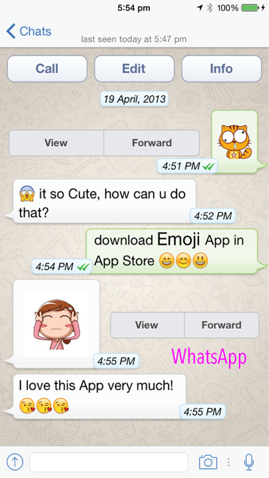 Emoji Free for WhatsApp, Kik, Telegram...etc 17+-0