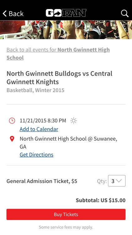 GoFan – High School Tickets screenshot-1