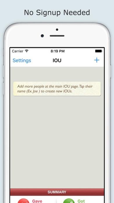 Iou (i Owe You) review screenshots