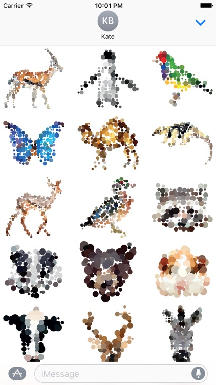 Dotted Animals Stickers