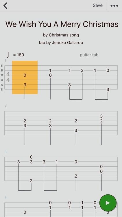 guitar tabs x tabs editor