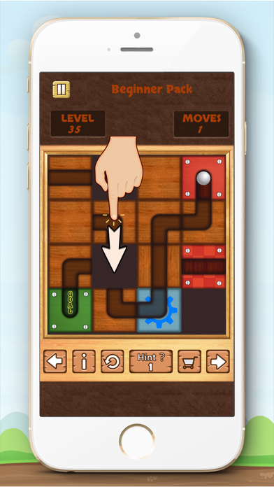 Unblock Ball Free - slide puzzle screenshot one