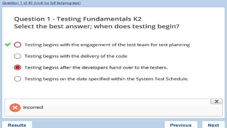 ISTQB Foundation Practice Exam