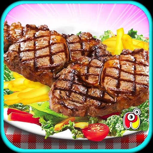 Стейк Maker-барбекю гриль, еда и кухня игра