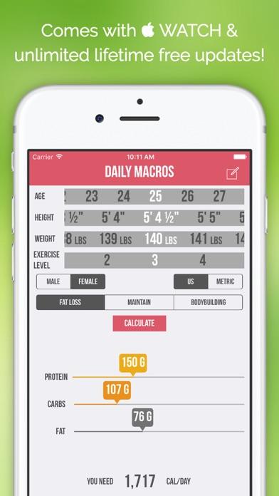 Daily Macros - Harris Benedict Formula Based Carb, Protein, Fat Macronutrient ratios and Calorie Calculatorのおすすめ画像5