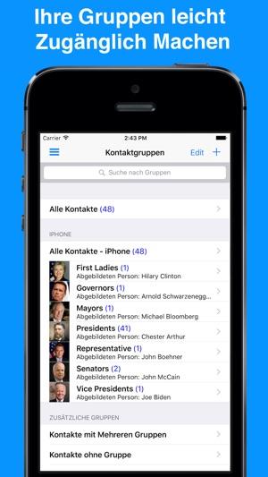 Gruppen-App iPhone