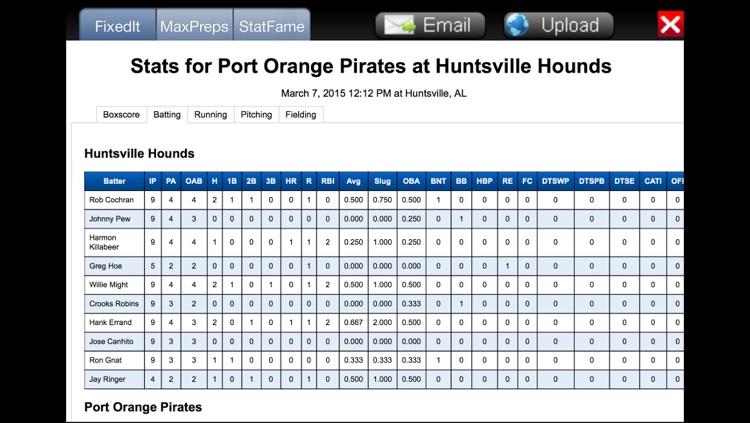 Fixed It! Baseball ScoreBook - Lite screenshot-4