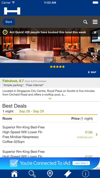 Singapur Hoteles + Compara y Reserva de hotel para esta noche con el mapa y viajes turísticosCaptura de pantalla de4