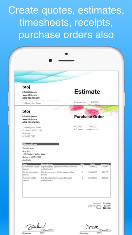 invoice maker pro - Create invoices on the go free screenshot-4