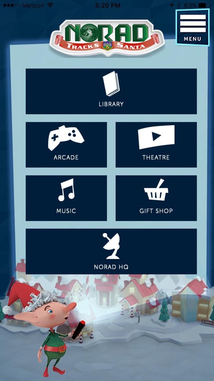NORAD Tracks Santa Claus Screenshot
