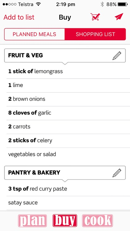 PlanBuyCook meal planner: simple meal planning screenshot-3