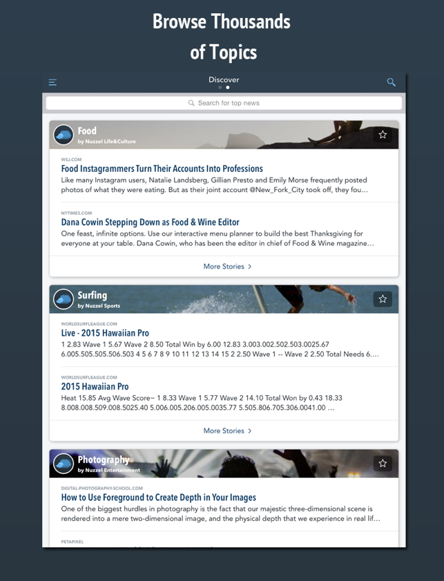 Nuzzel: News for Professionals Screenshot