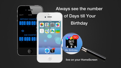 Screenshot for Days Till My Birthday (live on your HomeScreen) in Venezuela App Store
