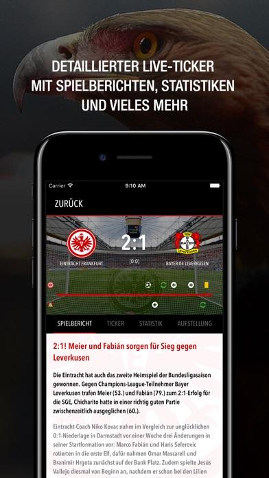 Screenshot for Eintracht Frankfurt- Adler App in Germany App Store