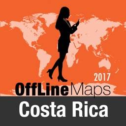Costa Rica Offline Map and Travel Trip Guide