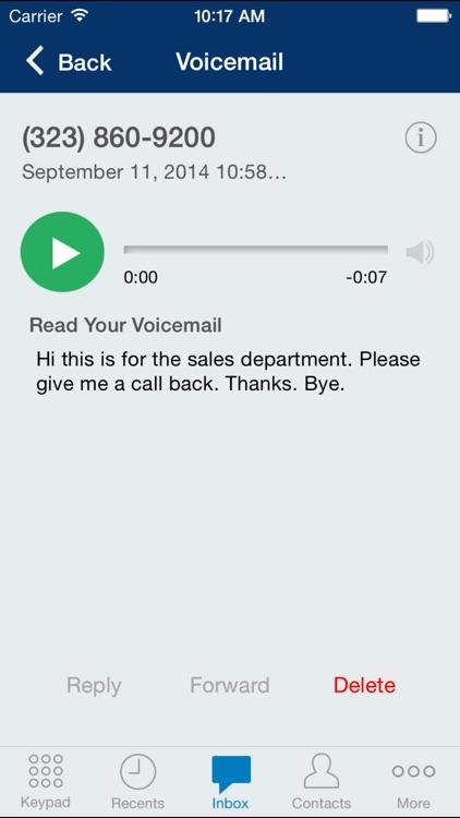 Onebox® – business phone app