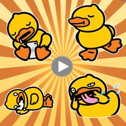 Yellow Cute Duck Animated Stickers