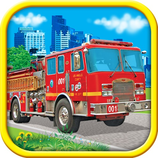 Fire Trucks - Coloring Book