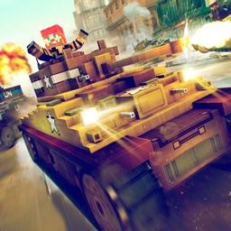 Tank Simulator 2016   Blocky Tanki Racing Battle