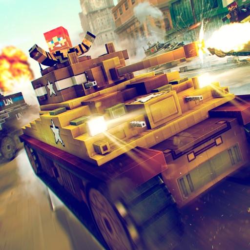 Tank Simulator 2016 | Blocky Tanki Racing Battle