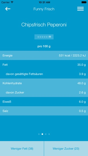 FoodControl Screenshot