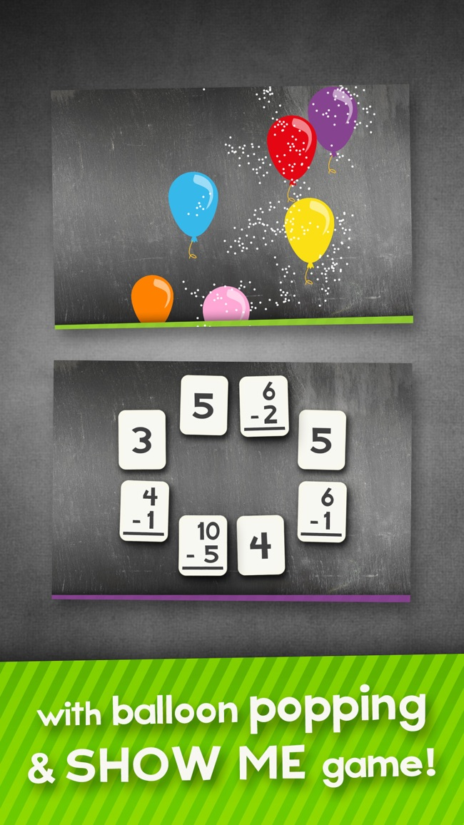 Addition and Subtraction Math Flashcard Match Games for Kids in 1st and 2nd Grade Screenshot