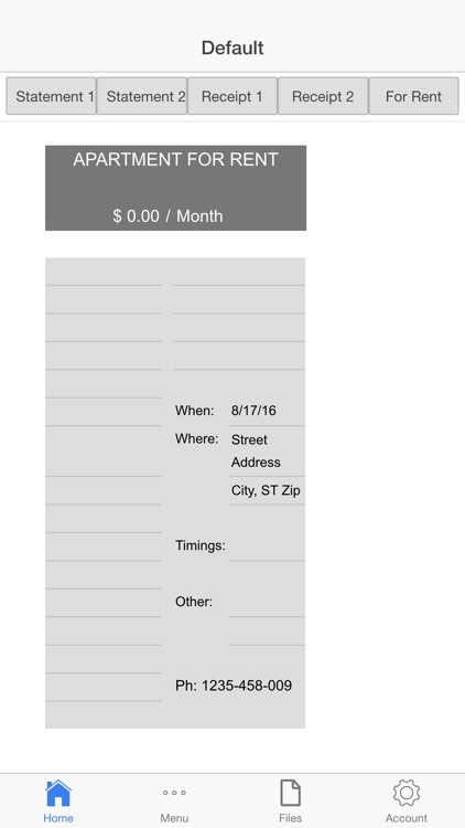 Rental Invoice screenshot-4