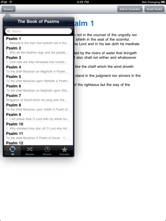 The Book of Psalms for iPad