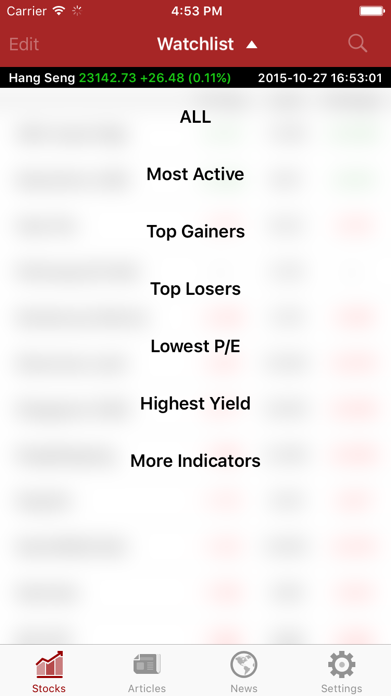 Shares Investment Screenshot