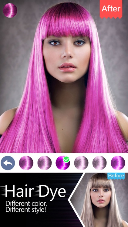 Hair Dye-Wig Color Changer,Splash Filters Effects screenshot-3
