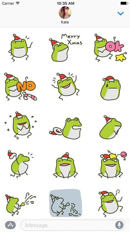 Greedy Xmas The Frog Stickers