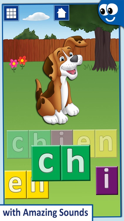 French First Words with Phonics: Kids Preschool Spelling & Learning Game screenshot-1