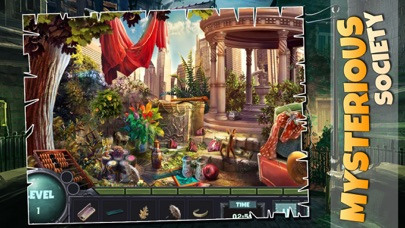 Mysterious Society : Crime scene hidden object features game screenshot one