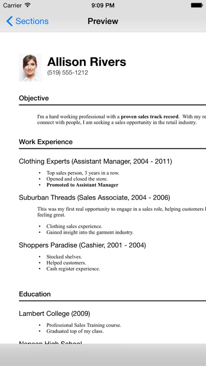 Resume Designer 3 screenshot-0
