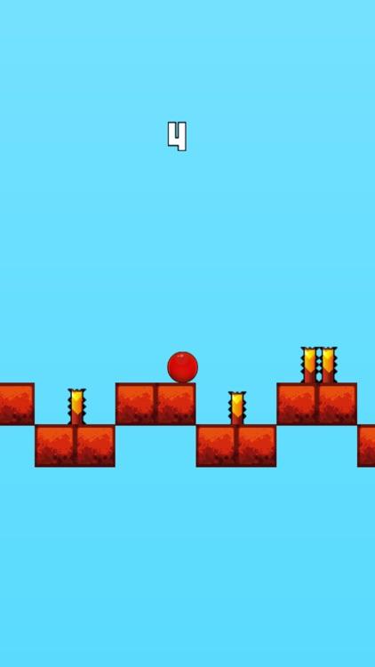 Red Bouncing Ball - Jump Over Spikes screenshot-3